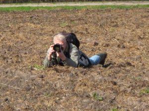 Voor het beste resultaat moet je als fotograaf soms een bijzondere positie innemen.